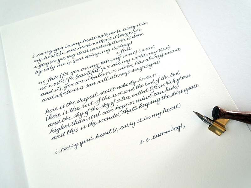 Commission - poem by e.e. cummings